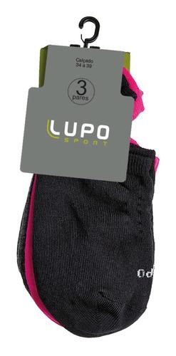Kit C/ 3 Meias Sapatilha Lupo Sport Adulto Ref. 03271-089
