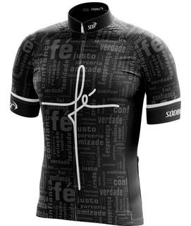 Camisa Ciclismo Sódbike Fé Preta - Ziper Full