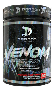 Pré Treino Venom Dragon Pharma - 300g (40 Doses)