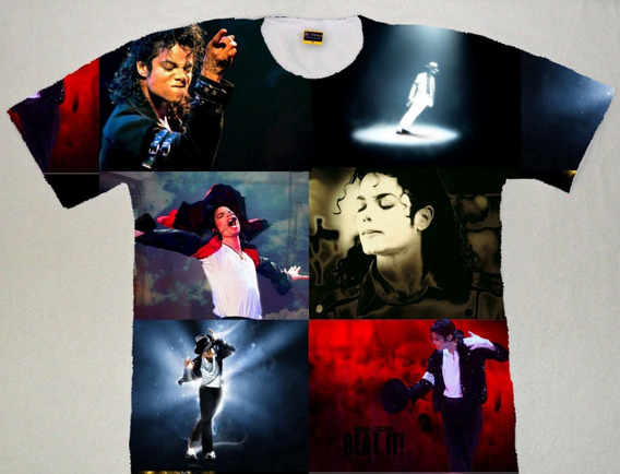 Camiseta Michael Jackson Estampa Total