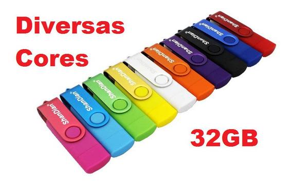 Pen Drive 32gb Otg De Duas Entradas Usb E Micro Usb