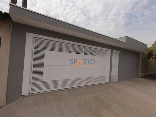 Imagem 1 de 24 de Casa Com 3 Dormitórios À Venda, 124 M² Por R$ 420.000,00 - Jardim Bom Sucesso - Santa Gertrudes/sp - Ca0532