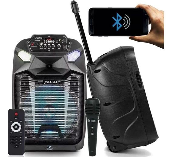 Caixa Ativa Amplificada Frahm Cm 650 650w Bateria Microfone