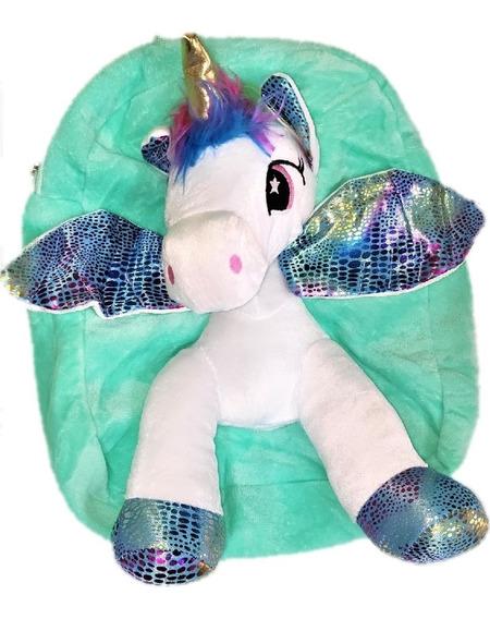 Mochila De Unicornio En Teciopelo