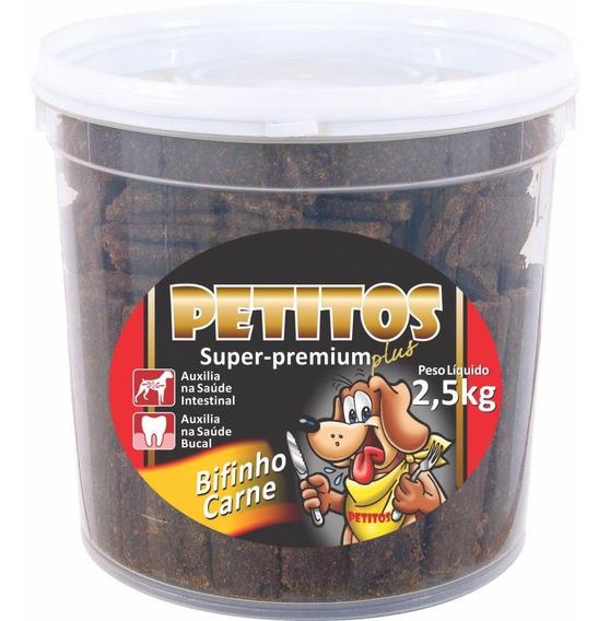 Kit 3un Bifinho Carne Para Caes Petitos 2,5kg