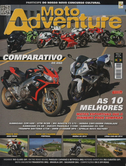 Moto Adventure N°153 Can-am Zx-6r Zx-10r Zzr1400 Fireblade