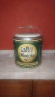 Hielera Modelo, Retro De Lamina Galvanizada. 15 Litros Cap