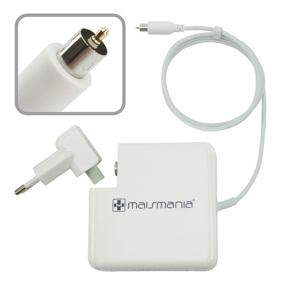Fonte Carregador Mais Mania P Macbook Apple 24v 2.65a 65w