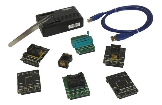 Programadora Proman Tl86 Flash Nand Nor Recupera Dados C/ Adapt. Tsop48, Tsop56, Soquete Zif E Reserva Tsop48