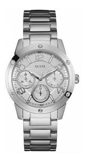 Relógio Guess Feminino Prata 92612l0gsna1 W0778l1