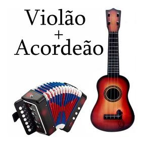 Violão + Acordeão ( Sanfona) Infantil+ Frete Gratuito