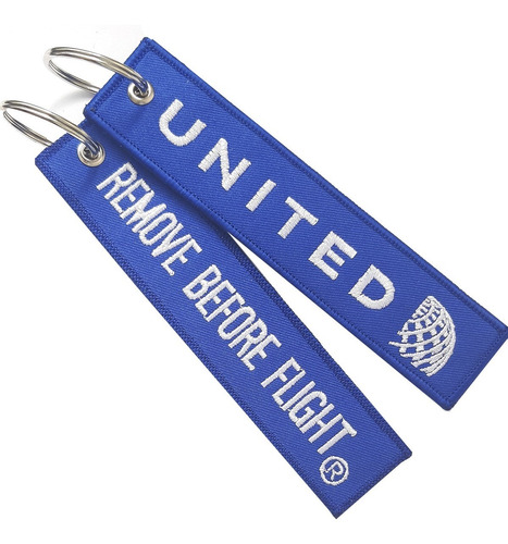 Llavero United Librea Remove Before Flight