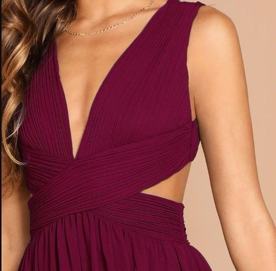 Maxi Vestido Largo Elegante Sexi Para Fiesta Dama Drapeado