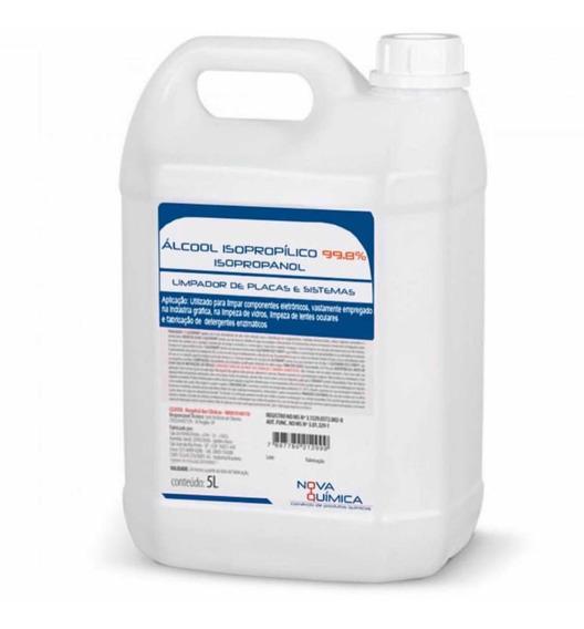 Álcool Isopropílico 99,9% Galão 5 Litros Para Limpeza