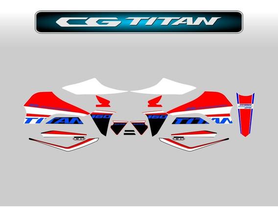 Kit Adesivos Cg Titan 160 2019 Edição Especial 25 Anos