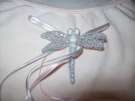 Pijama Yamp Rosa Y Gris Con Libelula T4-6 Años