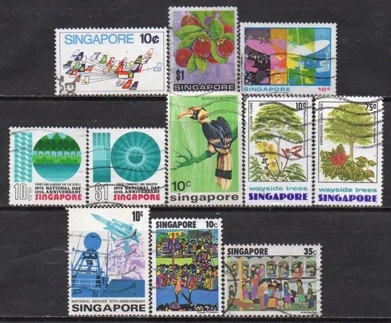 Cingapura - 1973-77 - Lote 11 Selos Diversos