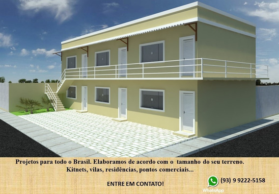 Projeto Arquitetônico Kitnet 2 Andares 8 Unidades