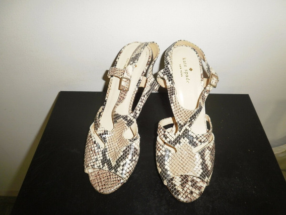 Sandalia Kate Spade New York De Cuero Serpiente Tacon Alto