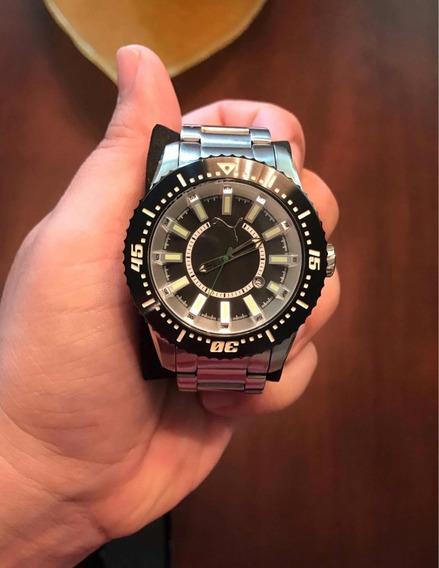 Relógio Puma Com Pulseira De Aço