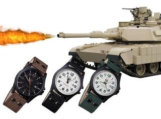 Reloj Para Hombre Estilo Militar Con Calendario