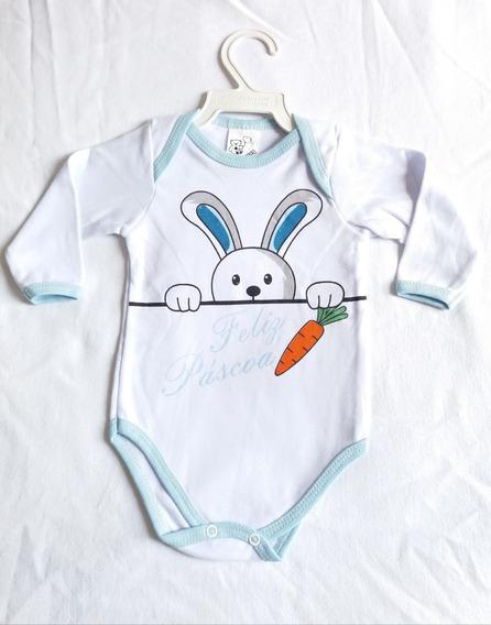 Body Bebe Infantil Animado Fantasia Páscoa