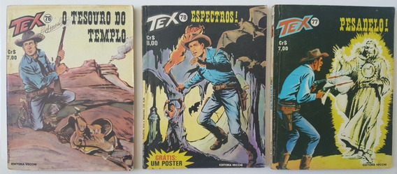 Lote Tex 76 A 78 Primeira Edição Espectros! Pesadelo! 1977