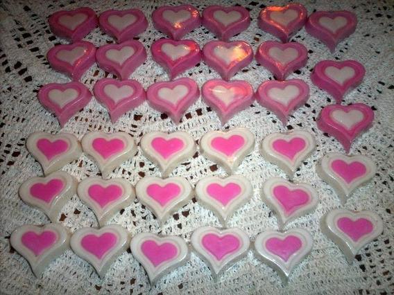 Jabón Corazón Souvenirs Spa Cumpleaños X 30