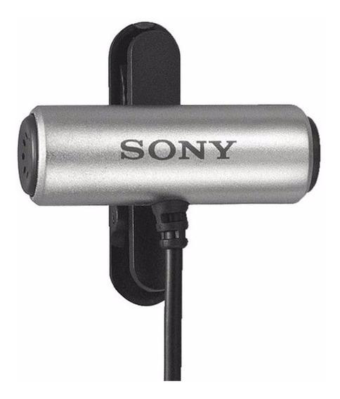 Microfone Lapela Sony Ecm-cs3, + Adptador Para Celular,pc