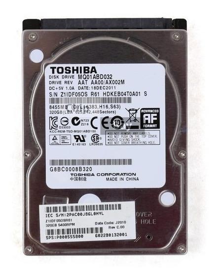 Hd Toshiba Mq01abf Series 320gb De Armazenamento.