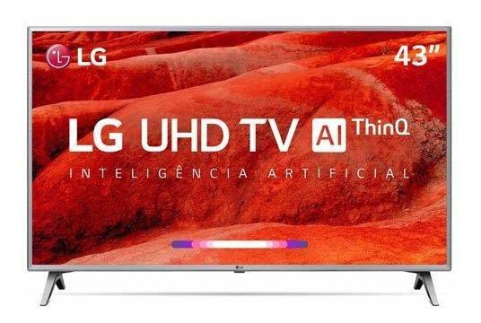 Smart Tv 4k Lg Led 43 Polegadas -hrd Ativo Wi-fi-43um7510psb