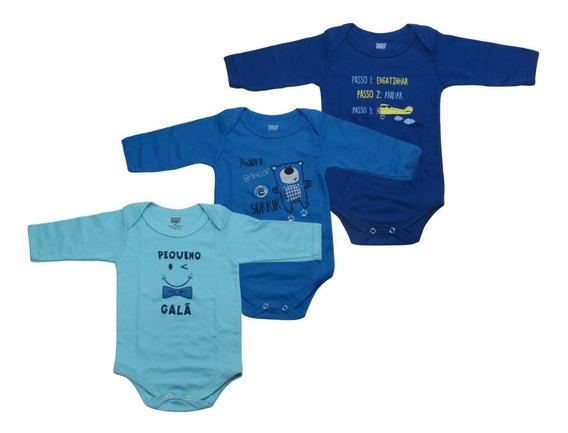 Kit 3 Body Bebê 100% Algodão Doctor Baby 01-018