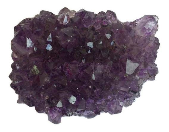 Mini Drusa De Ametista Bruta Pp Pedra Cristal Natural