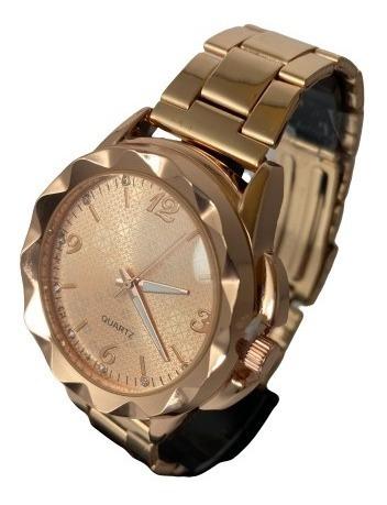 Relógio Lindo Feminino Analógico Super Barato Dourado