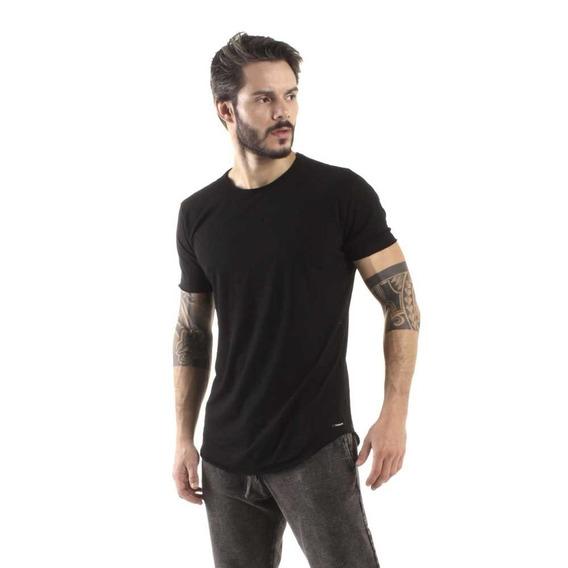 Camiseta Longline Curve Preto