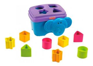 Juguete Bebe Encastre Cubeta De Figuras Elefante Fisher