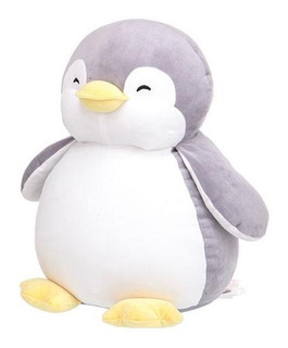 Pingüino De Peluche Ultrasuave Miniso Gris Kawaii