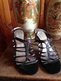 Zapatos Negros Con Taco Marca Nine West 38.5