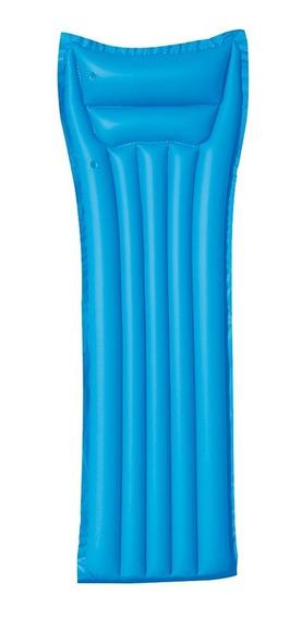 Cama Inflable Para Adulto Multicolor Azul Bw-43014