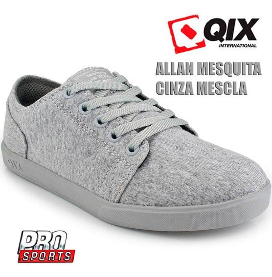 Qix Tênis Allan Mesquita Cinza Mescla - Original - Fi