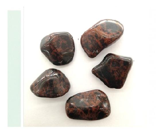 Obsidiana Mogno Rolada Natural 250g Pedra Cura Cristais