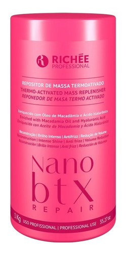 Richée Nano Botox Repair 1kg Repositor De Massa #original#