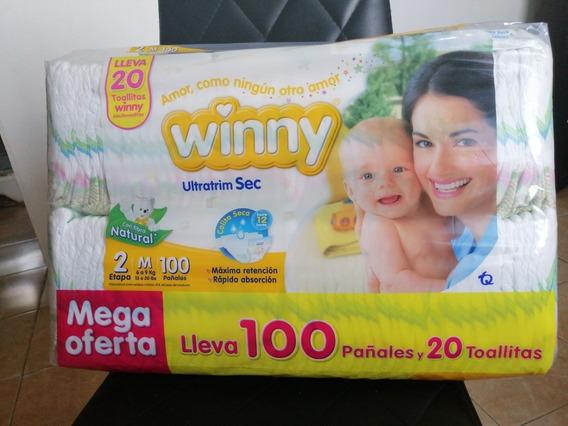 Paquete De Pañal Winny 100und Con Toallitas Incluidas