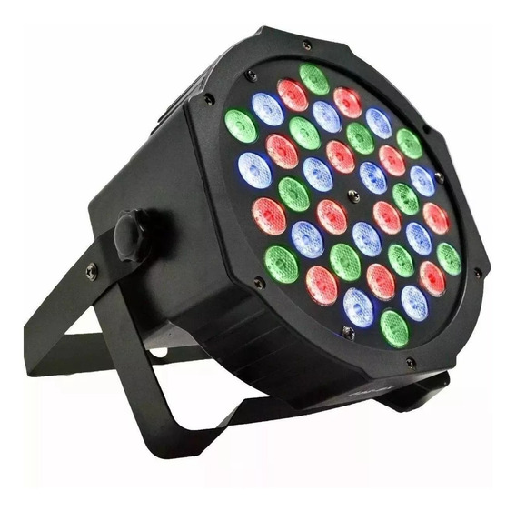 Canhão Refletor Led Par 64 Rgbw 36 Leds Slim Display Digita