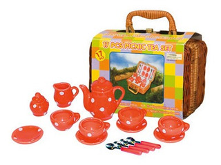 Set Infantil 17p Red W White Dot Mini Tea Champion Ib 2025