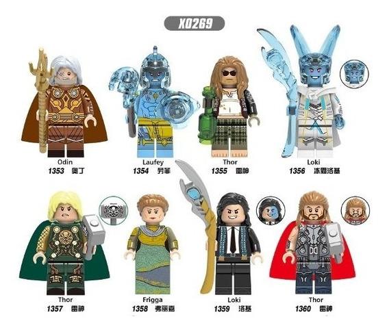 Thor Loki Odin Frigga Laufey Tipo Lego X0269