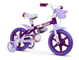 Bicicleta Infantil Nathor Aro 12 Puppy Banco Pu Menina
