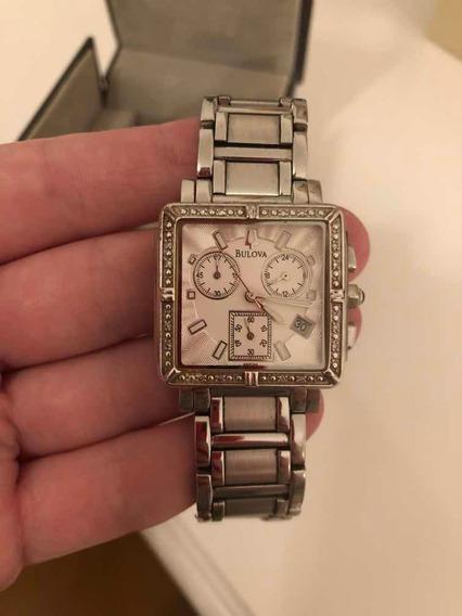 Relógio Bulova Com Diamantes Feminino