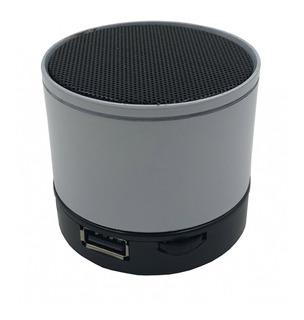 Parlante Bluetooth Metálico Entrada Usb Tf Card Fm Con Cable