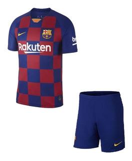 Uniforme Infantil Do Barcelona Novo Oficial - Super Desconto